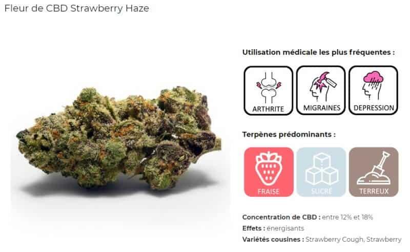 Fleur CBD strawberry haze