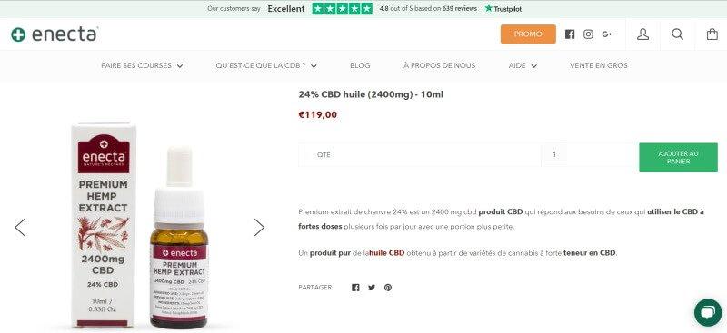 huile cbd site enecta