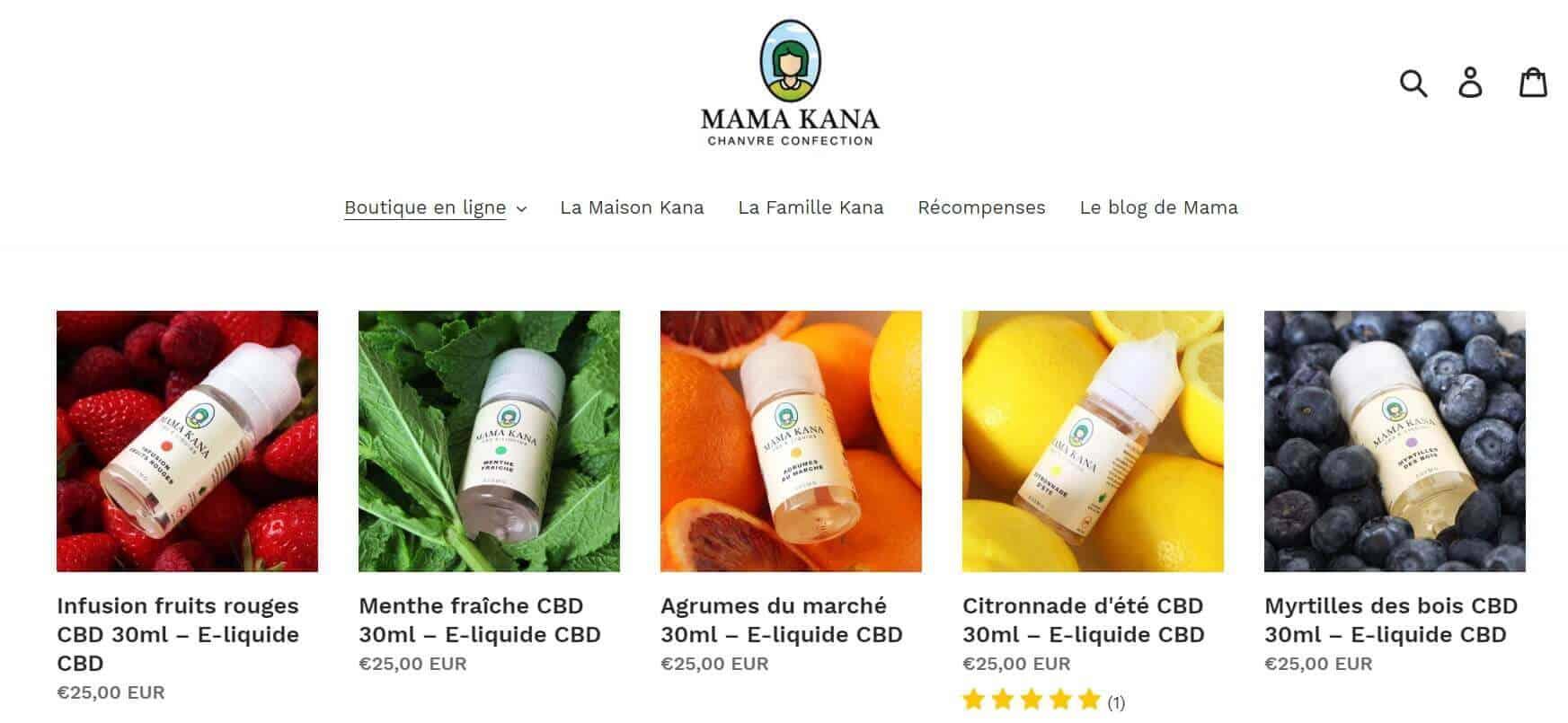 e-liquide CBD mama kana