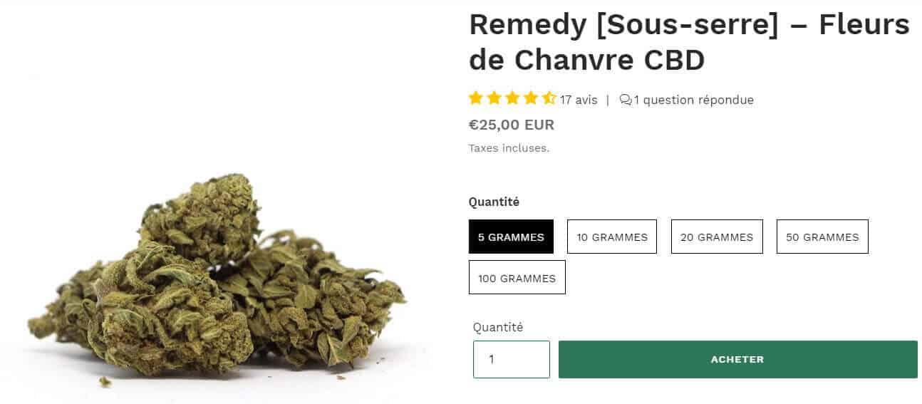 fleurs de chanvre remedy