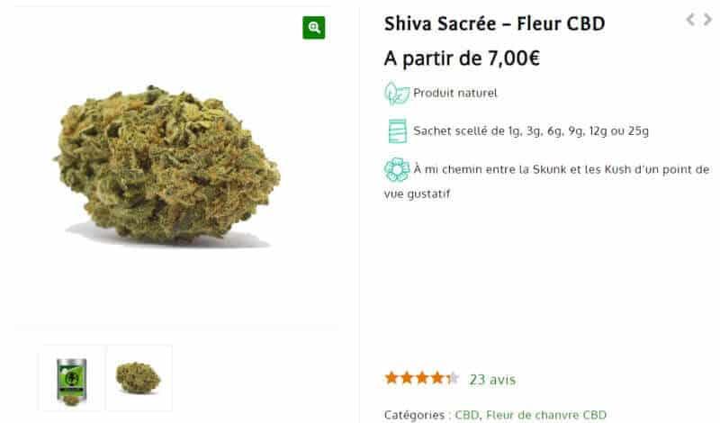 Fleur CBD Shiva sacree