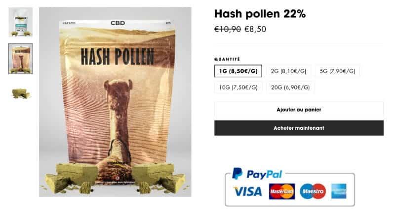 hash pollen CBD